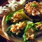 Coconut Shrimp on Romaine Leaves