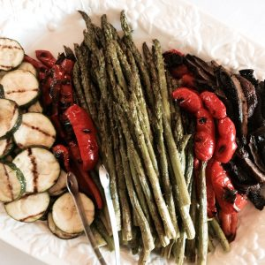 Grilled Vegetable Platter for Graduation Party