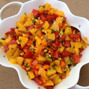 Peach Salsa Salad