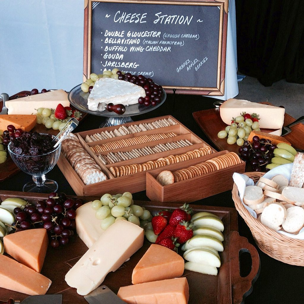 Artisanal Cheese and Fruit Station at Cocktail Hour