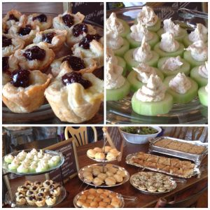 Finger Foods at Harry Potter themed Bridal Shower Brunch