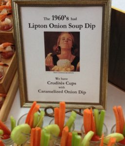 Crudite' Cups at retro birthday party
