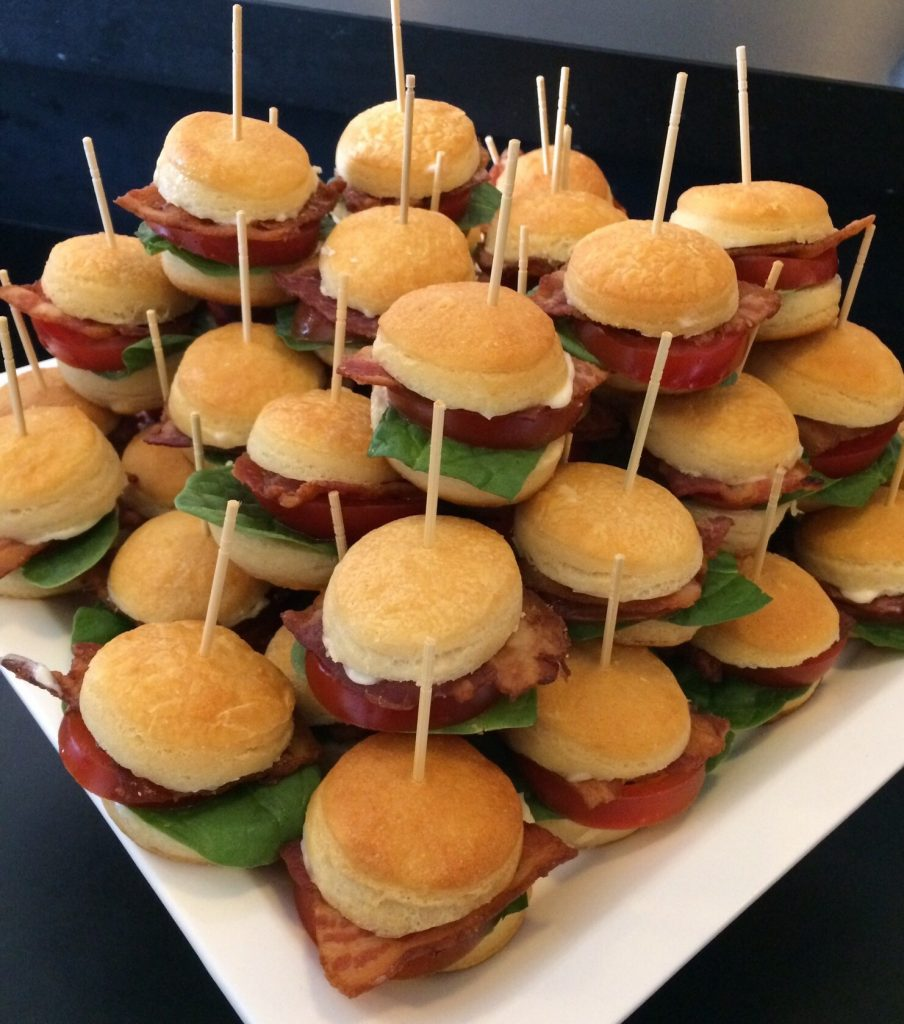 BLT Mini Biscuits at 50th birthday party