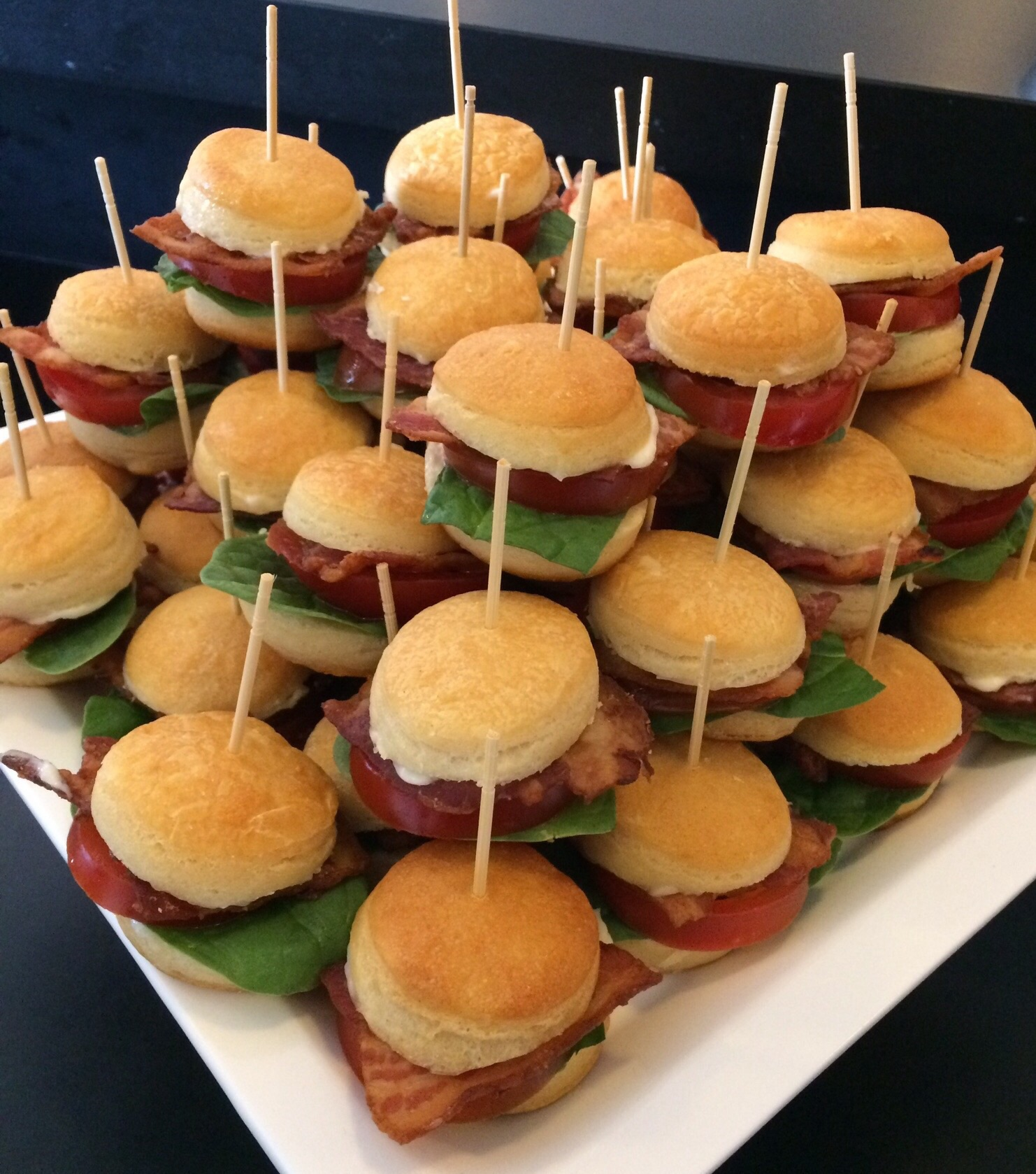Hot Dip Station BLT Mini Biscuits At 50th Birthday Party