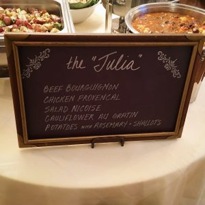"The ""Julia"" Station at cocktail wedding reception"